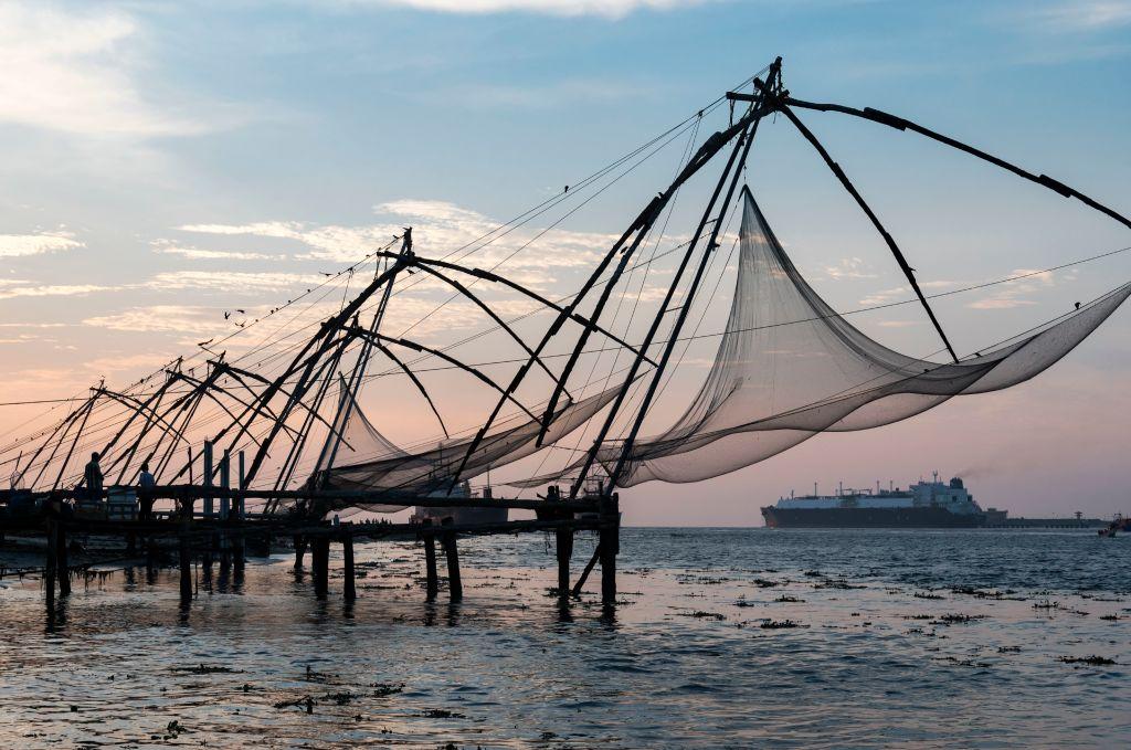 les filets de pêche chinois