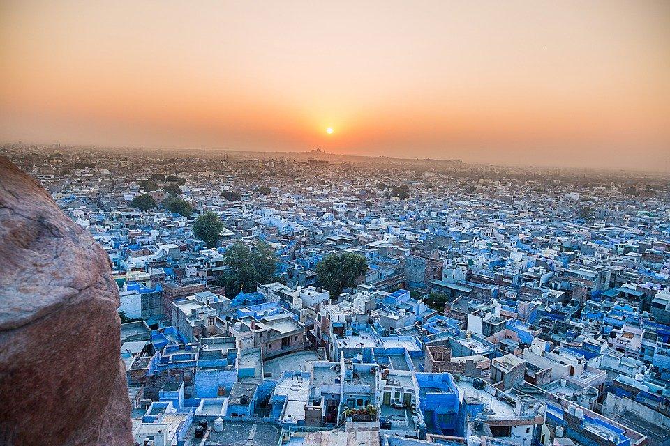 Vue de la ville bleue à Jodhpur
