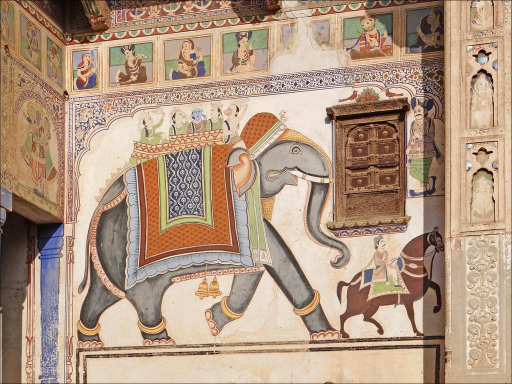 Peinture murale à Mandawa