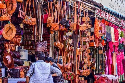 Bazars colorés de l'Inde