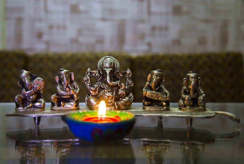 La fête de la lumière de l'Inde