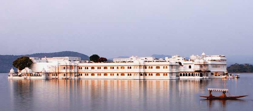 L'hôtel Taj Lake Palace à Udaipur